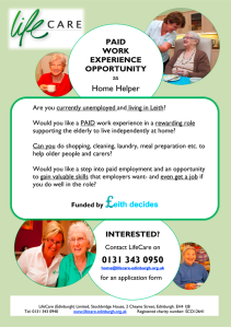 Leith Paid Work Experience Opportunity