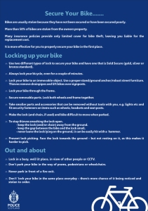 Cycle Advice Aug 2014 (A4)