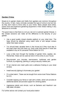 garden crime