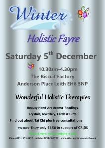 Winter Holistic Fayre 2015poster