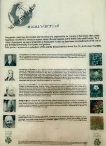 photo of plaque about people connected with the gardens